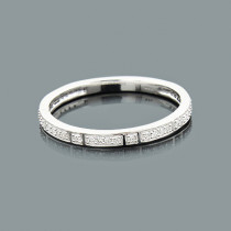 Ultra Thin Stacked Rings: Designer Diamond Band 0.14ct 14K Gold
