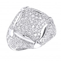 Statement Mens Diamond Rings Sale 14k Gold Luxurman 3.25ct Ring