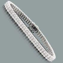 Sterling Silver 2 Row Diamond Bracelet 0.40ct