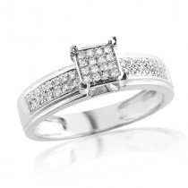 0.28CT Diamond Sterling Silver Engagement Ring
