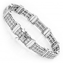 Sterling Silver Diamond Bracelet 0.6ct