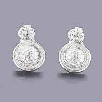 Sterling Silver Diamond Circle Earrings 0.22ct