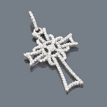 Sterling Silver Diamond Cross Pendant 0.37ct