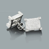 Sterling Silver Diamond Earrings 0.60ct