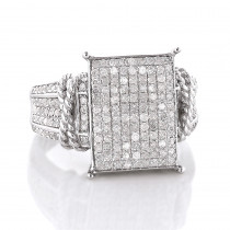 Affordable Sterling Silver Diamond Engagement Ring 0.6ct