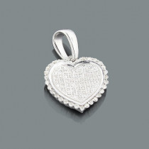Sterling Silver Diamond Heart Pendant 0.28ct
