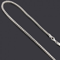Sterling Silver Franco Chain Necklace 2.8mm 36in