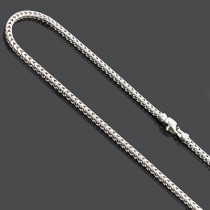 Sterling Silver Franco Chain Necklace 3mm 30 Inches