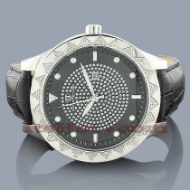 Super Techno Watches Mens Diamond Watch 0.12ct
