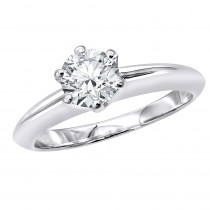 Tiffany Style Round Diamond Solitaire Engagement Ring in 18k Gold 0.75ct