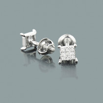 Tiny Diamond Stud Earrings 0.06ct 10K Gold