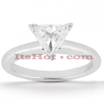 Trillion Cut Diamond Platinum Engagement Ring 1ct