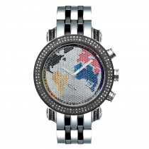 Two Tone Joe Rodeo Diamond JoJo Watch 1.75ct World Map