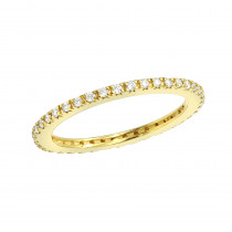 Ultra Thin Diamond Eternity Ring Band 0.18ct 14k White Yellow Rose Gold