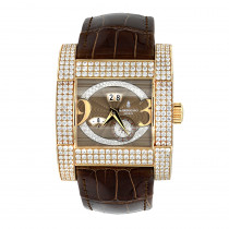 Unique 18K Gold De Grisogono Novantatre Automatic Men's Diamond Watch 20ct