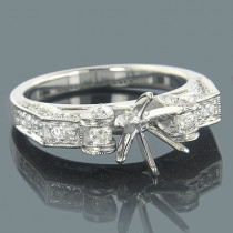 Unique Engagement Ring Settings 18K Diamond Setting .53
