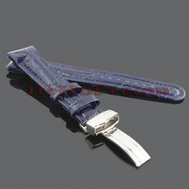 Watch Bands: Joe Rodeo Leather Watch Band 20mm Blue