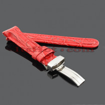 Watch Bands: Joe Rodeo Leather Watch Band 20mm Red
