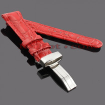 Watch Bands: Joe Rodeo Leather Watch Band 22mm Red