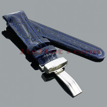 Watch Bands: Joe Rodeo Leather Watch Band 24mm Blue