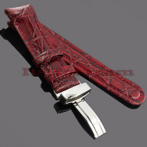 Watch Bands: Joe Rodeo Leather Watch Band 24mm Burgundy