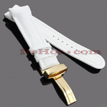 Watch Bands: Joe Rodeo Leather Watch Band 24mm White