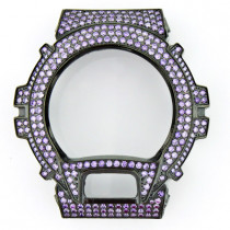 Watch Bezels: Purple G-Shock Bezel with Crystals