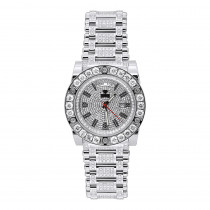 22 Carat Aqua Master Diamond Watch for Men White & Black Diamonds Automatic