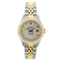 26mm Rolex Datejust Ladies Diamond Watch 18k Gold & Stainless Steel 1.2ct