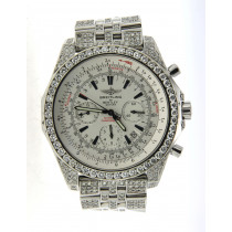 Fully Iced Out Real Diamond Breitling Bently Diamond Bezel, Case, Band 48mm