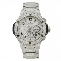 Iced Out 44mm 301.sx Hublot Big Bang Full Diamond Watch for Men Sale 16ct