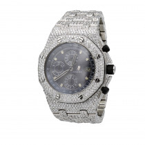 Iced Out Audemars Piguet Royal Oak Offshore Chronograph Mens Diamond Watch