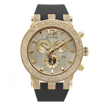 Iced Out Yellow Gold Pltd Joe Rodeo Broadway Mens Diamond Watch 5 Carats