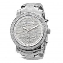 JoJino Chronograph Large Mens Diamond Watch 0.25ctw Iced Out Dial 3 Subdials