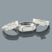 Wedding Ring Sets 10K Diamond Bridal Ring Set 0.66ct