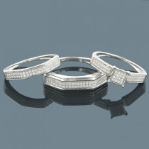 Wedding Ring Sets 14K Diamond Engagement Ring Set 0.58