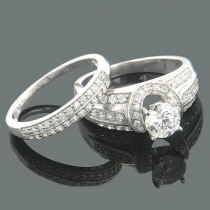 Wedding Ring Sets 14K Diamond Engagement Ring Set .74ct