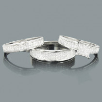 Wedding Trio Sets: Gold Diamond Ring Set 0.72ct 10K