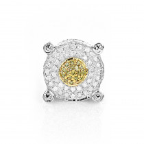 White and Yellow Diamond Earring 0.2ct Single Mens Stud