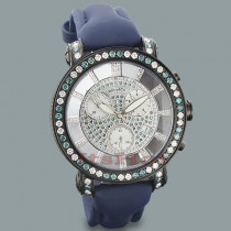 White Blue Diamond Mens Watch by Benny and Co 6.50ct