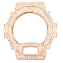 White Crystal Rose Gold Tone G-Shock Bezel