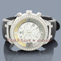 White Yellow Black Diamond Aqua Master Watch 4.25ct