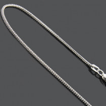 White Yellow Gold Chains: 14K Thin Franco Chain 1mm 18""