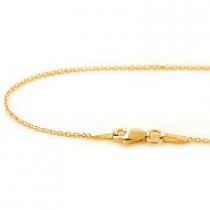 Womens 14K Solid Yellow Gold Chain 16-18in 1mm