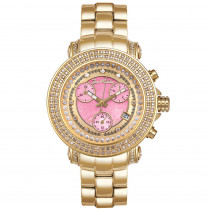 Womens Diamond JoJo Watch 1.25ct Yellow Gold Pink MOP