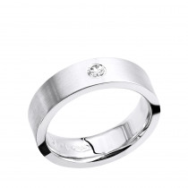 Womens or Mens Solitaire Diamond Wedding Band in 14k Gold Comfort Fit