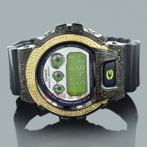 Yellow Black Diamond Watches: Casio G-Shock Diamond Watch 3.75ct