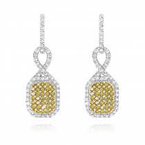 Yellow Diamond Dangle Earrings 0.54ct 14K Gold