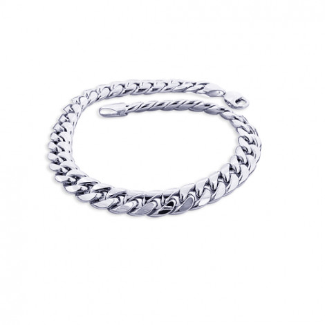 10K White Gold Miami Cuban Link Curb Chain Bracelet 9mm 7.5-9in 10k-white-gold-miami-cuban-link-curb-chain-bracelet-9mm-75-9in_1