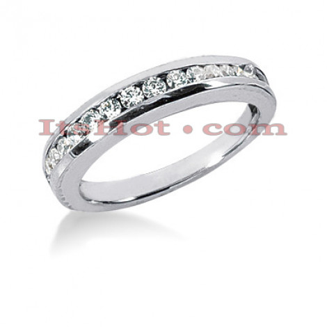 14K Gold Channel Set Diamond Engagement Ring Band 0.33ct Main Image